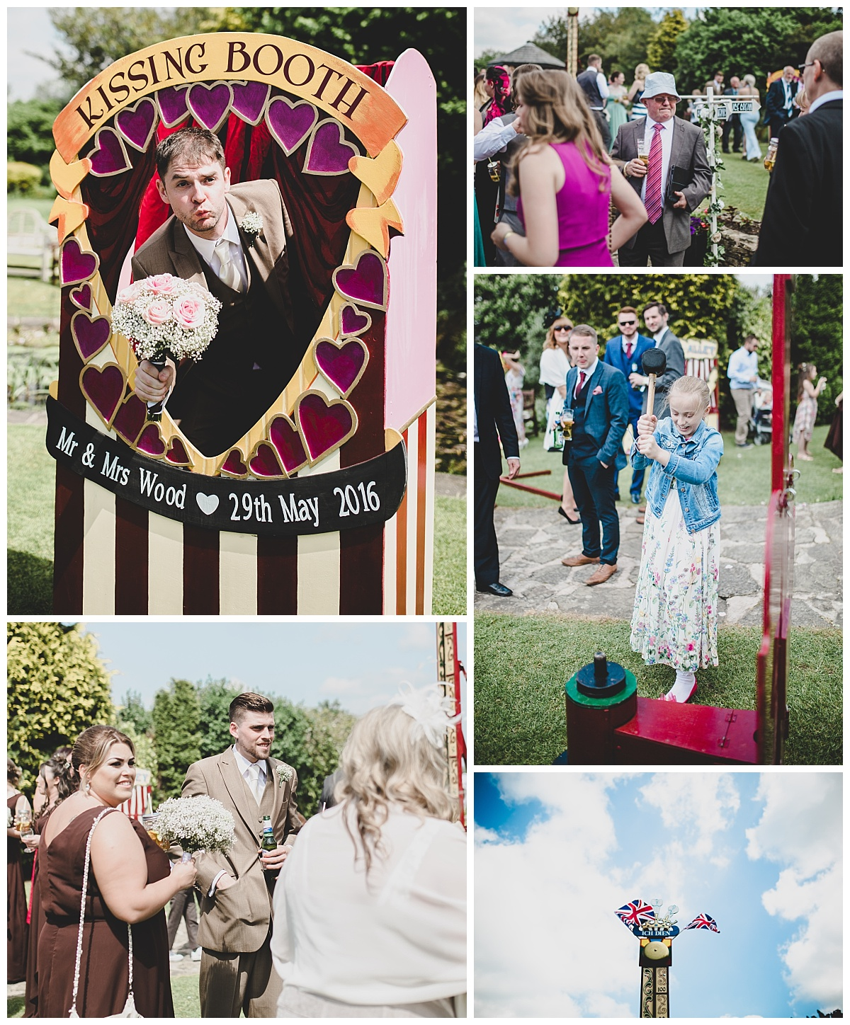 vintage themed wedding - games on the lawn