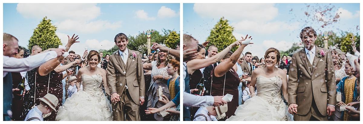 the confetti shot - mytton fold wedding
