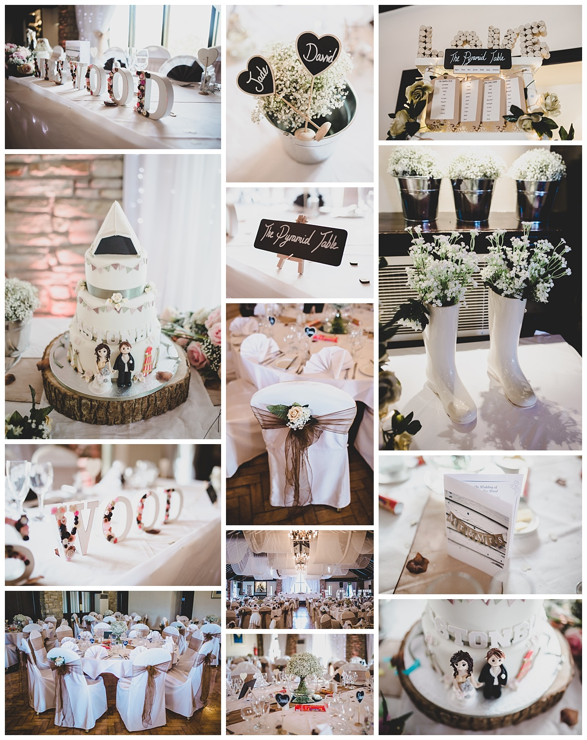 festival themed wedding - the table settings