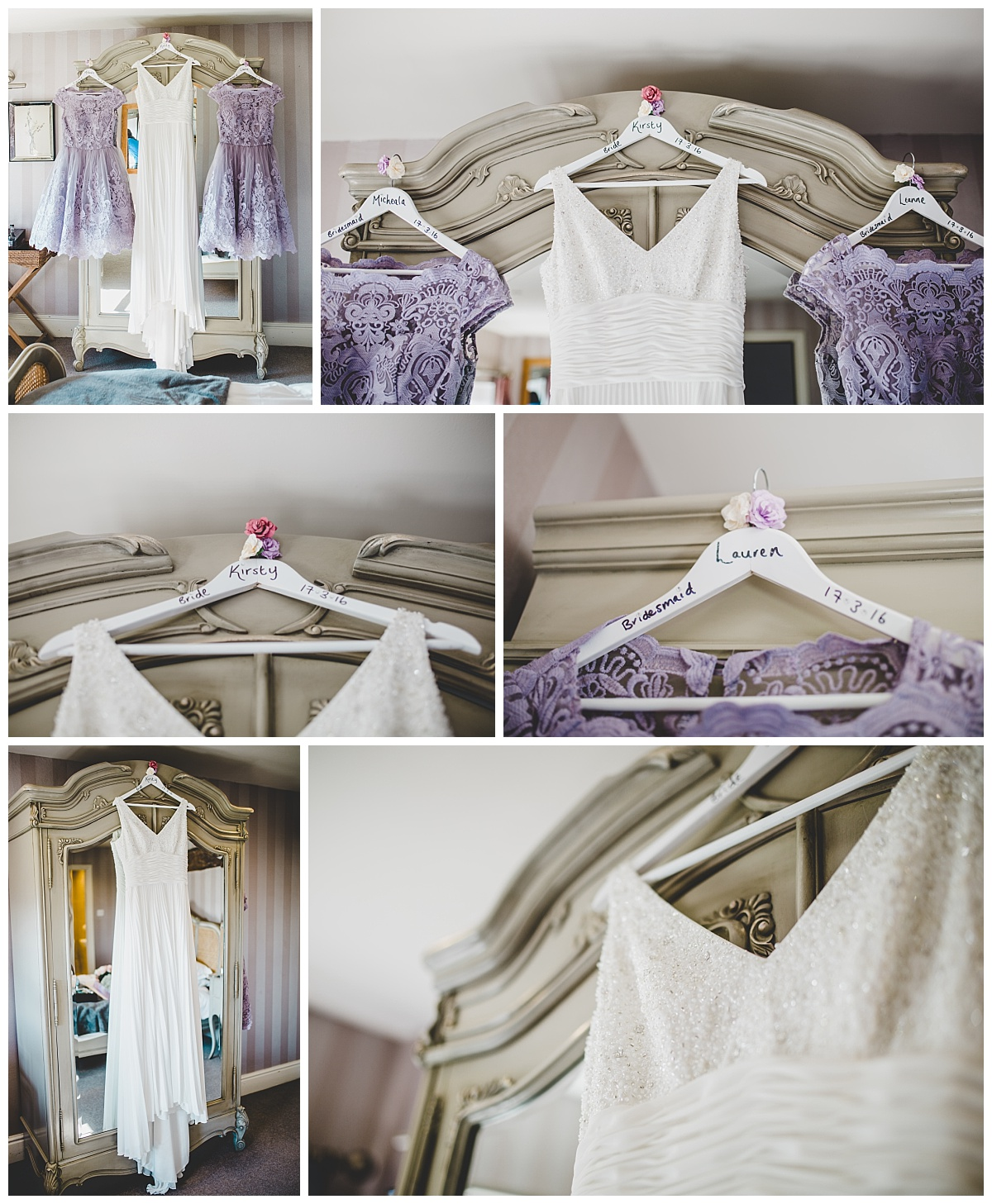 bride's dress at Shireburn Arms