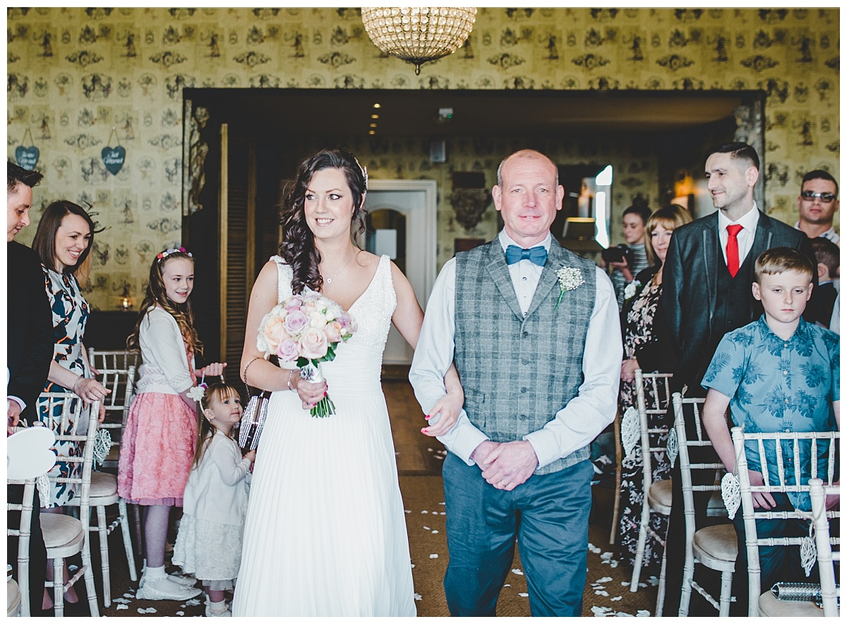 wedding ceremony at Shireburn Arms in Clitheroe