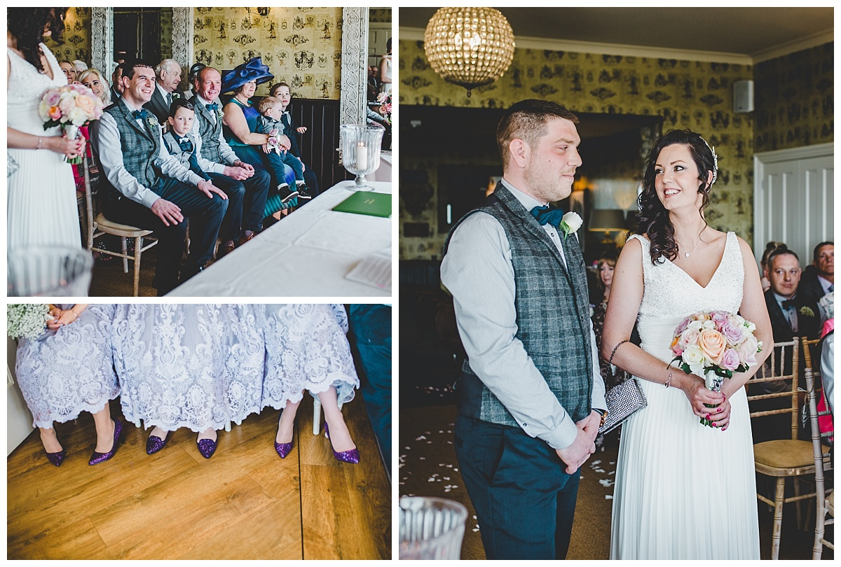 during the ceremony - shireburn arms wedding photographer