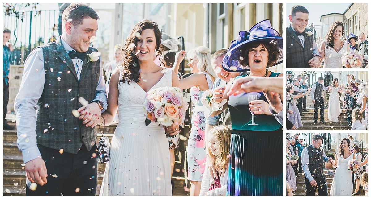 ribble valley wedding - the confetti shot