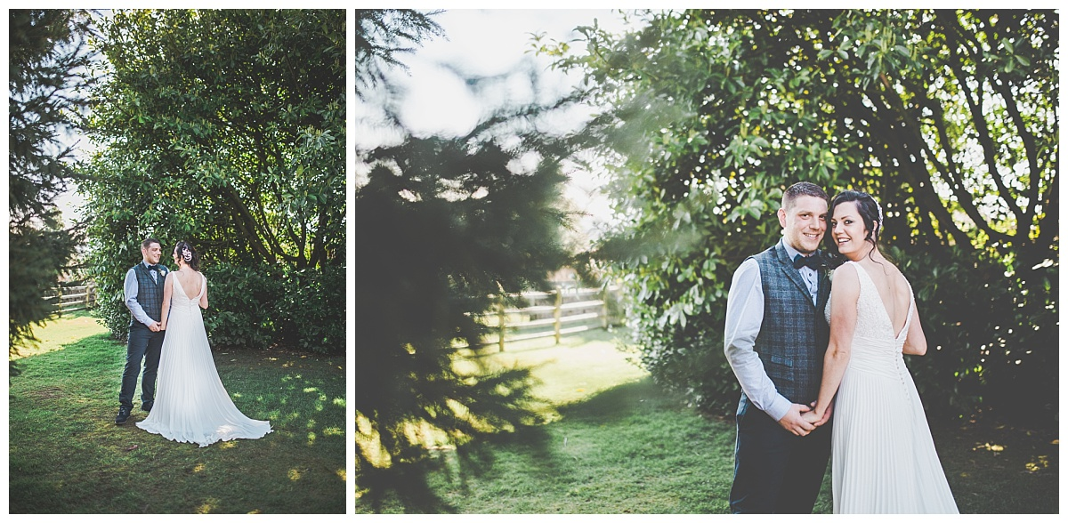 bride and groom portraits - ribble valley wedding photographer