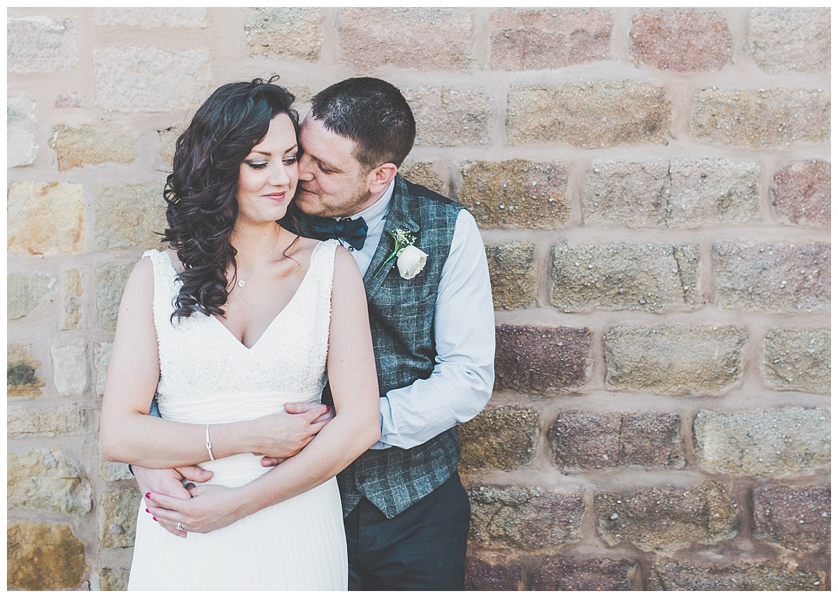 bride and groom portraits by Lancashire wedding photographer