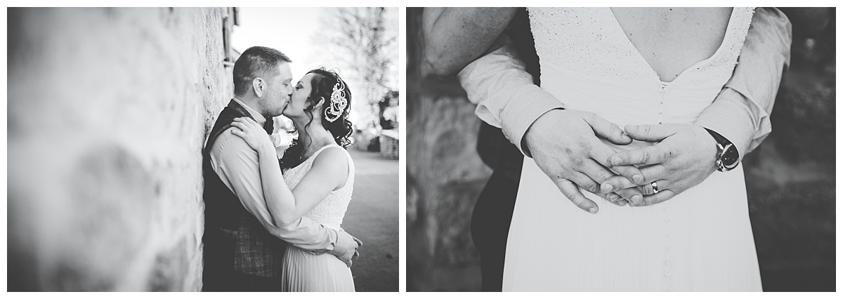 black and white wedding images in Lancashire