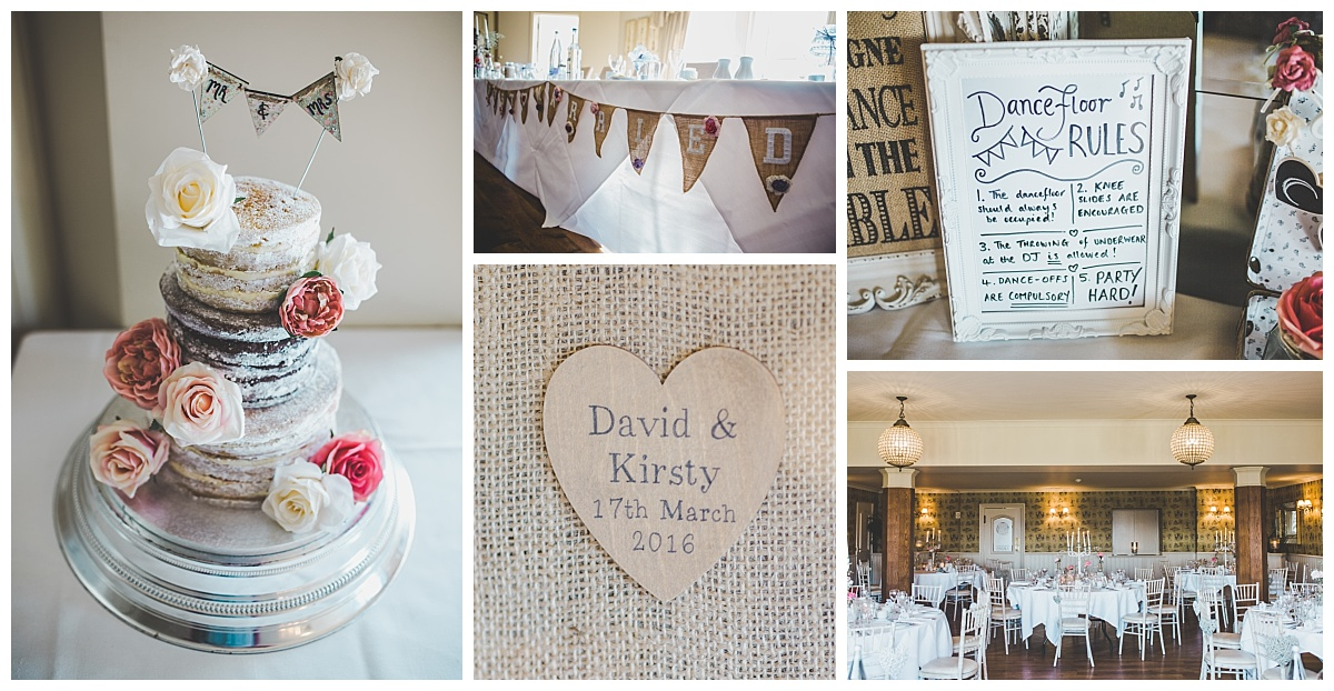 more rustic inspired wedding decoration, country pub wedding