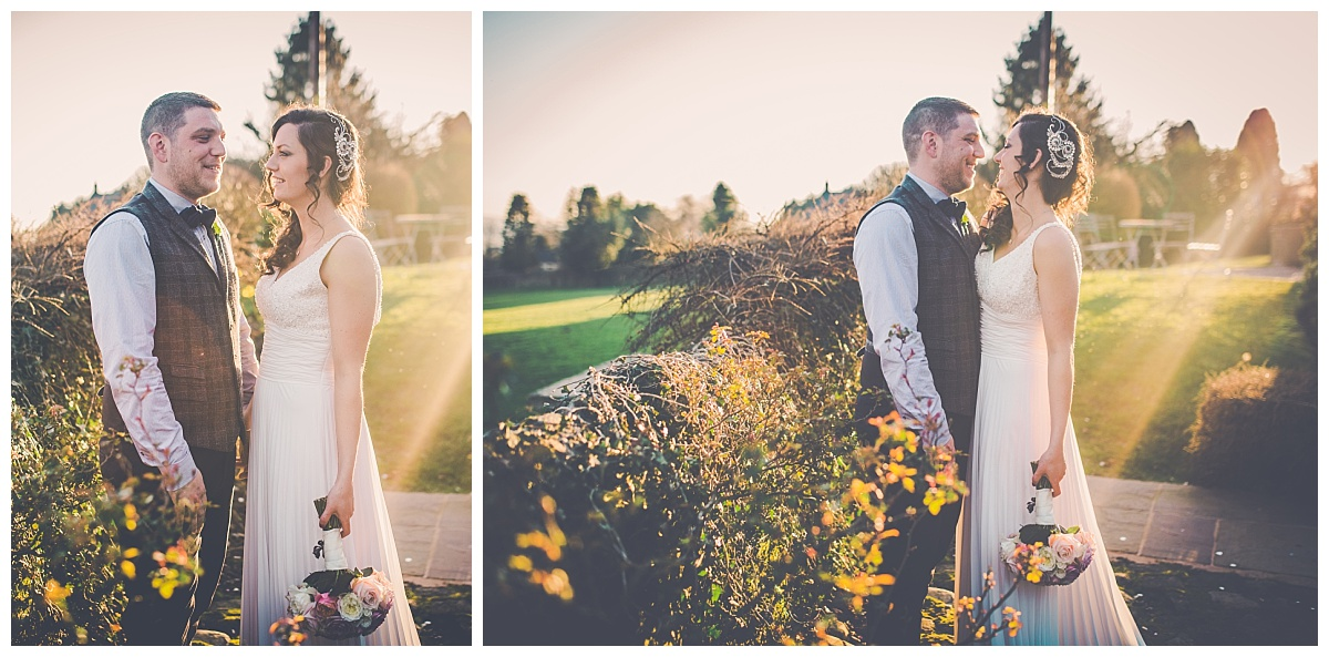 sunset images of bride and groom creative wedding photographer in lancashire