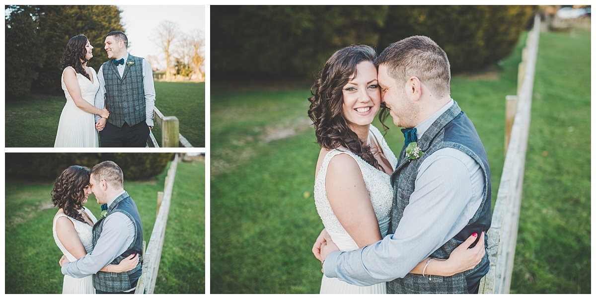 relaxed portraits of the bride and groom at shire burn arms venue