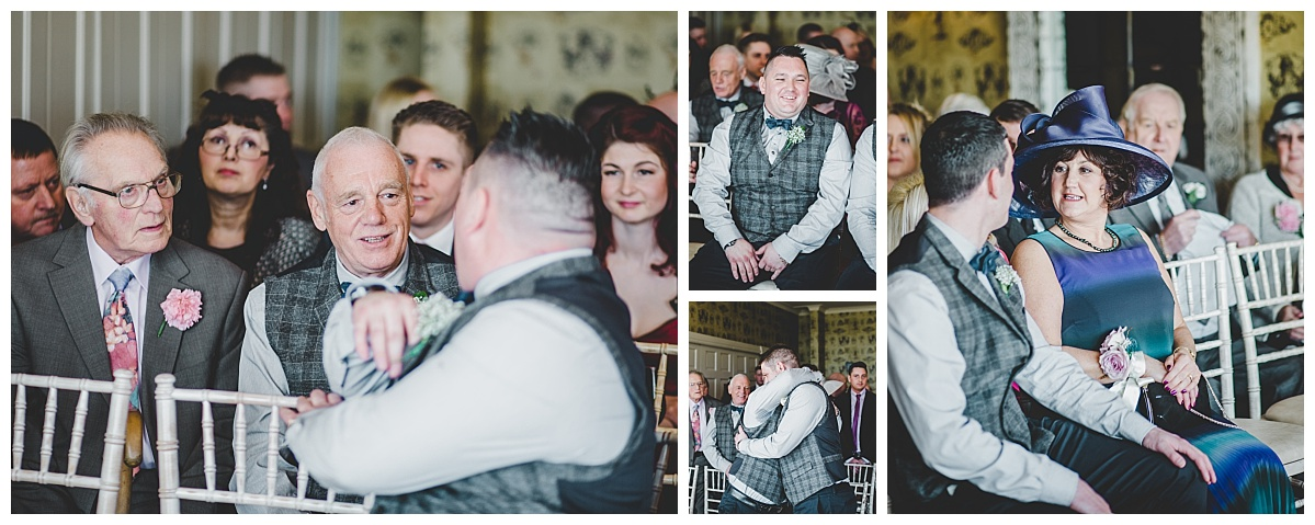 natural images of guests at Shireburn Arms wedding - documentary wedding photographer Lancashire