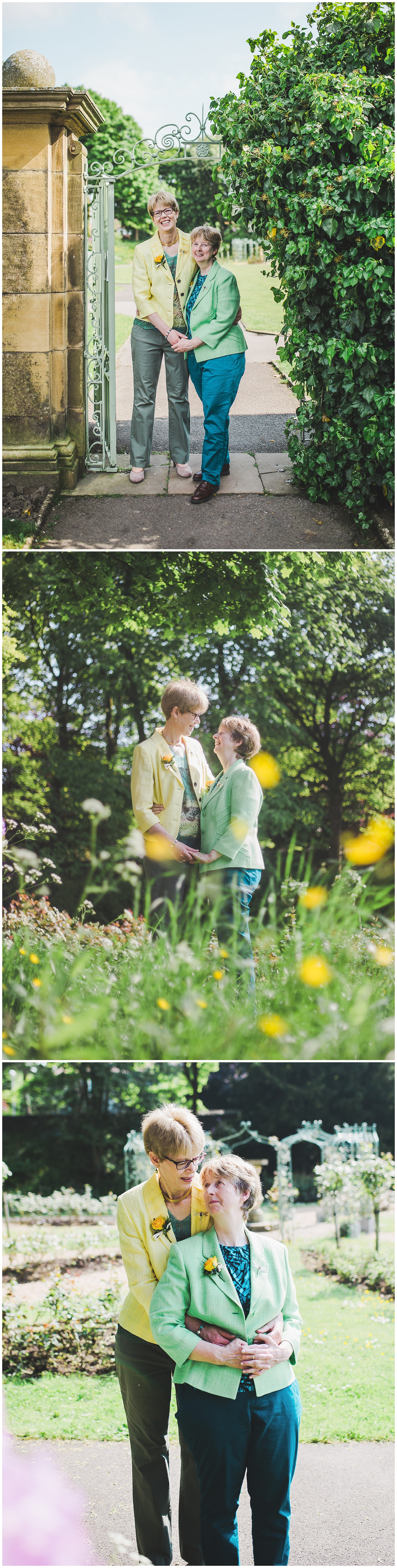 Natural and relaxed wedding images of same sex wedding in lancashire