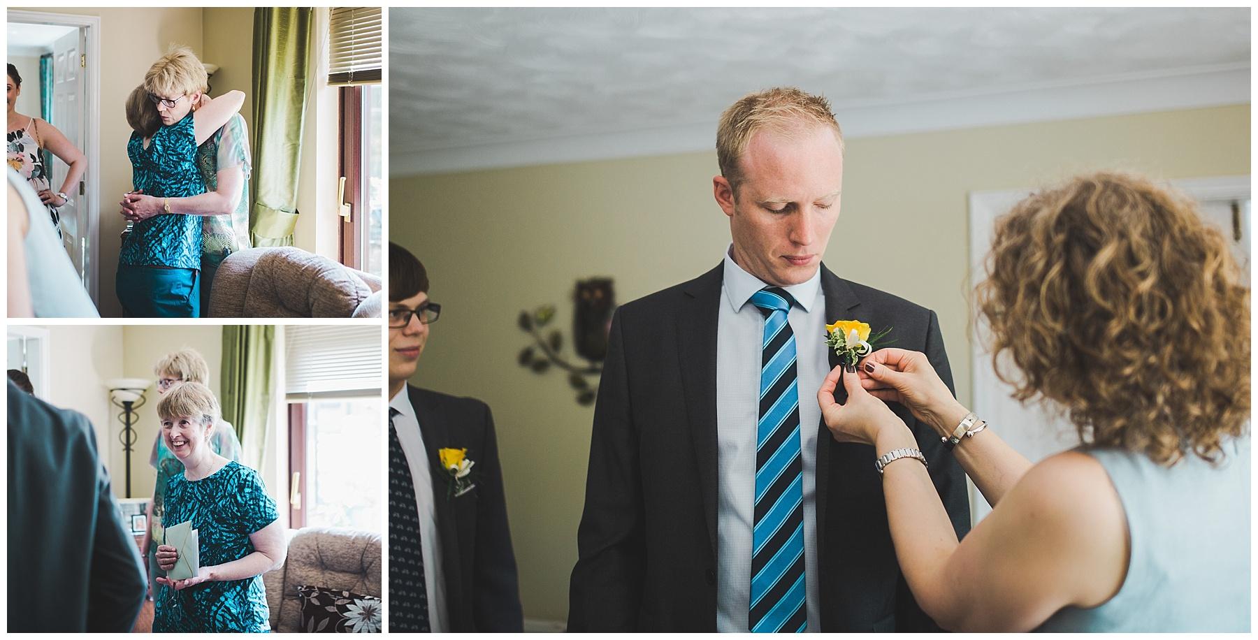 Lancashire wedding preparations.
