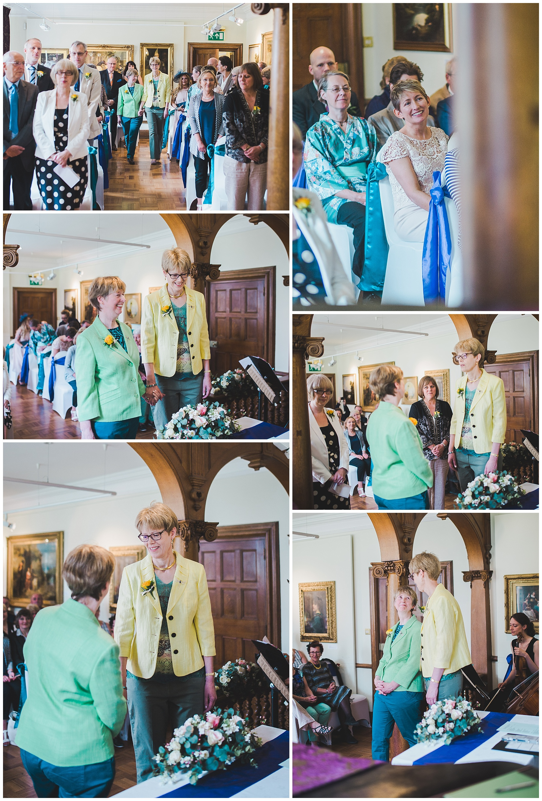 Wedding Ceremony images from Haworth Art Gallery.