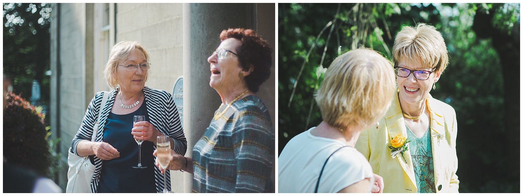 Cheerful laughs from the guests- documentary wedding photographer