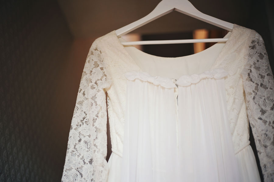 An alternative vintage wedding dress