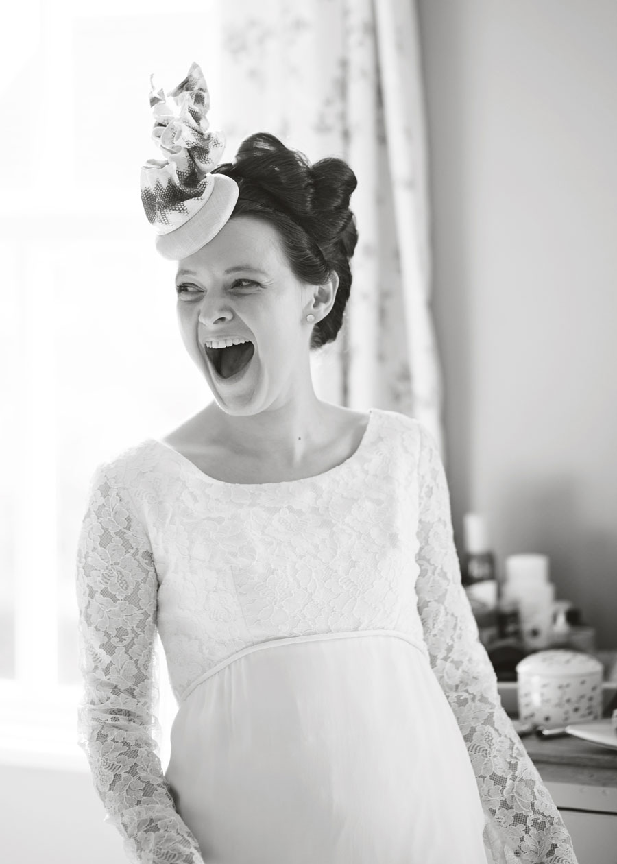 Laughing bride - Lancashire wedding pictures