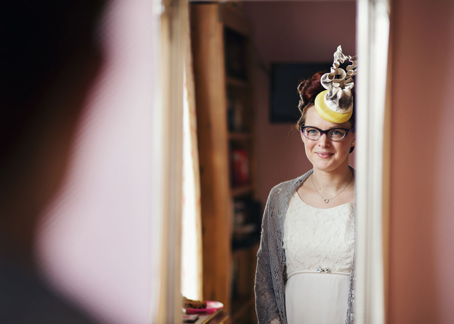 portrait of quirky bride - alternative wedding outfit