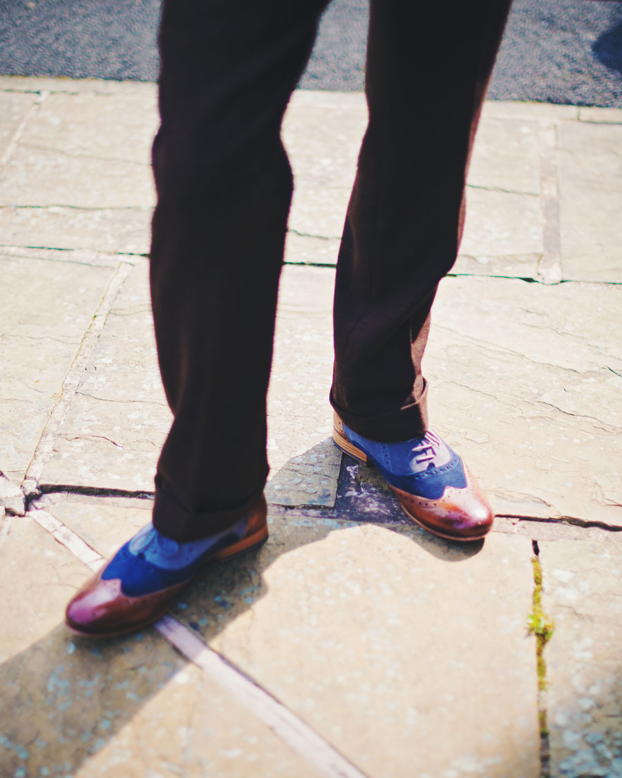 grooms alternative shoes - Haworth Art Gallery wedding