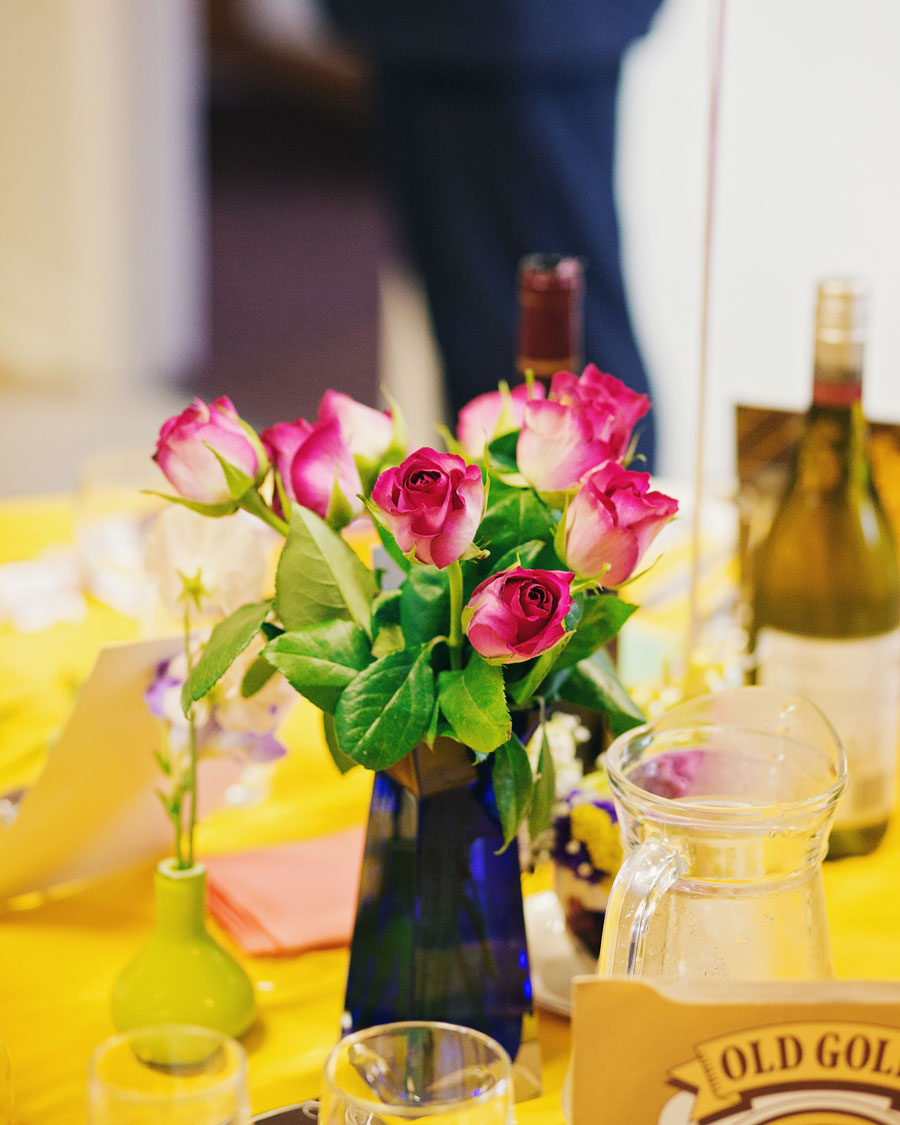 flower centrepieces - wedding decor