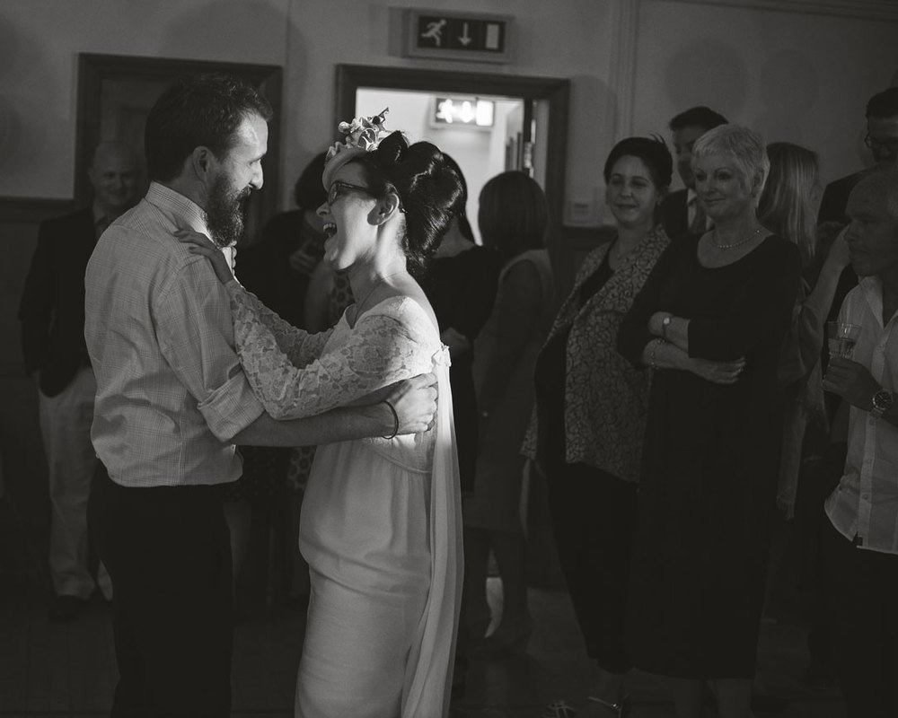 first dance at lancashire village hall wedding