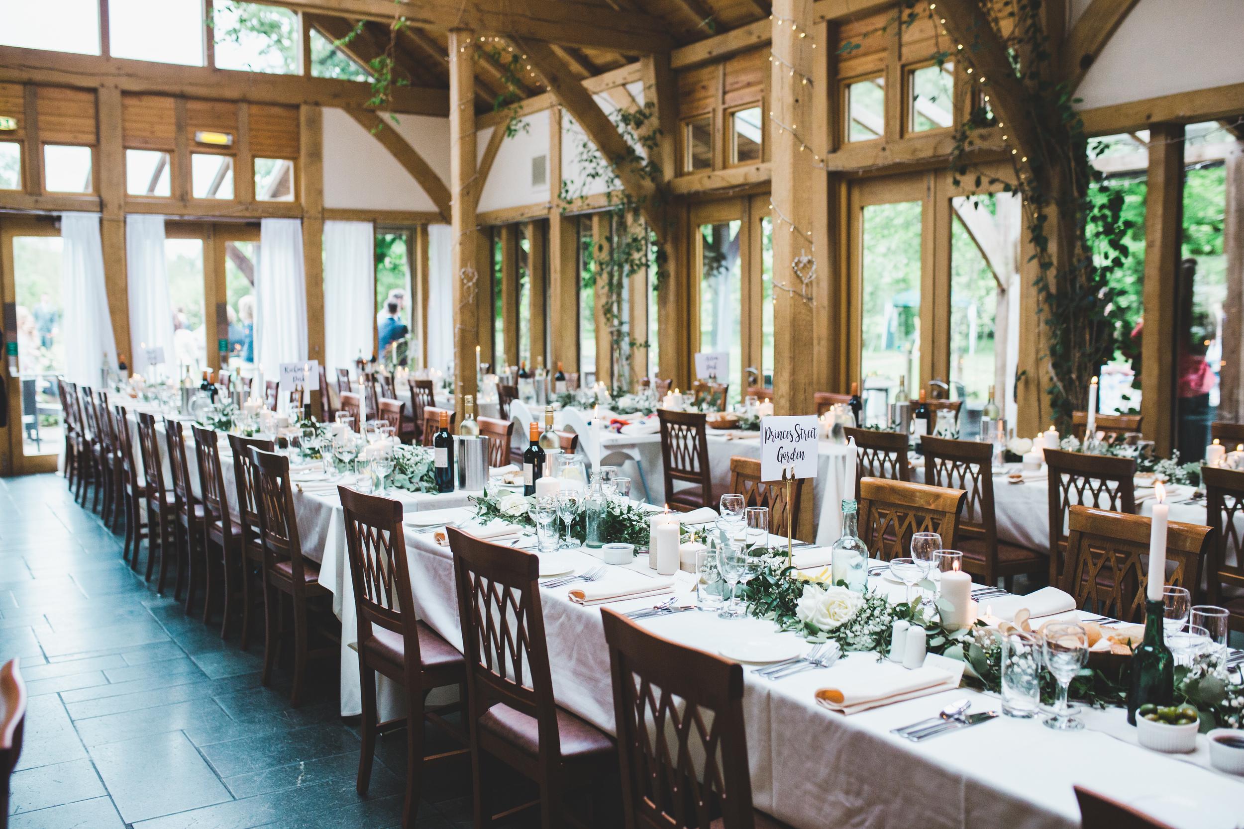 Wedding decor Cheshire wedding photographer - Oak Tree of Peover Wedding