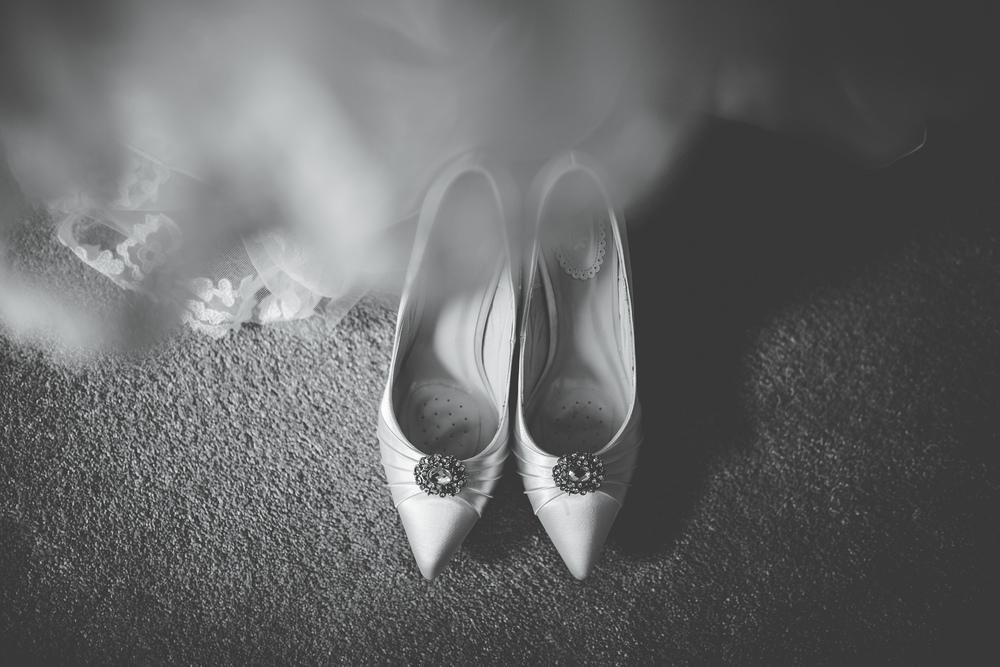 lancashire wedding photographer - shoes and dress
