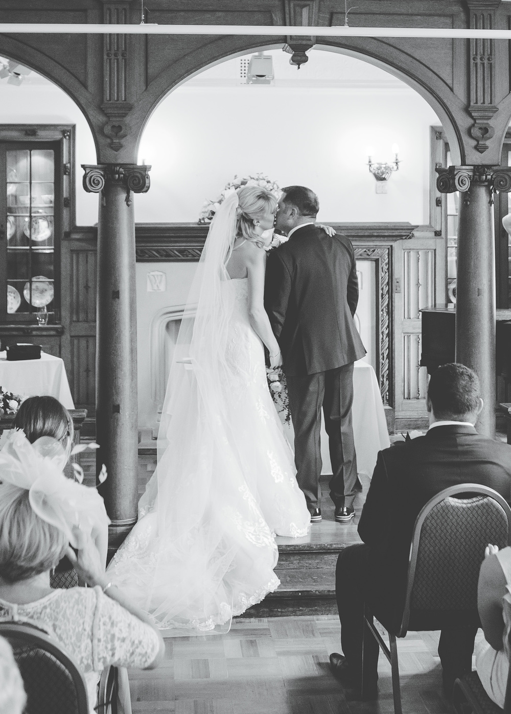 first kiss during the ceremony