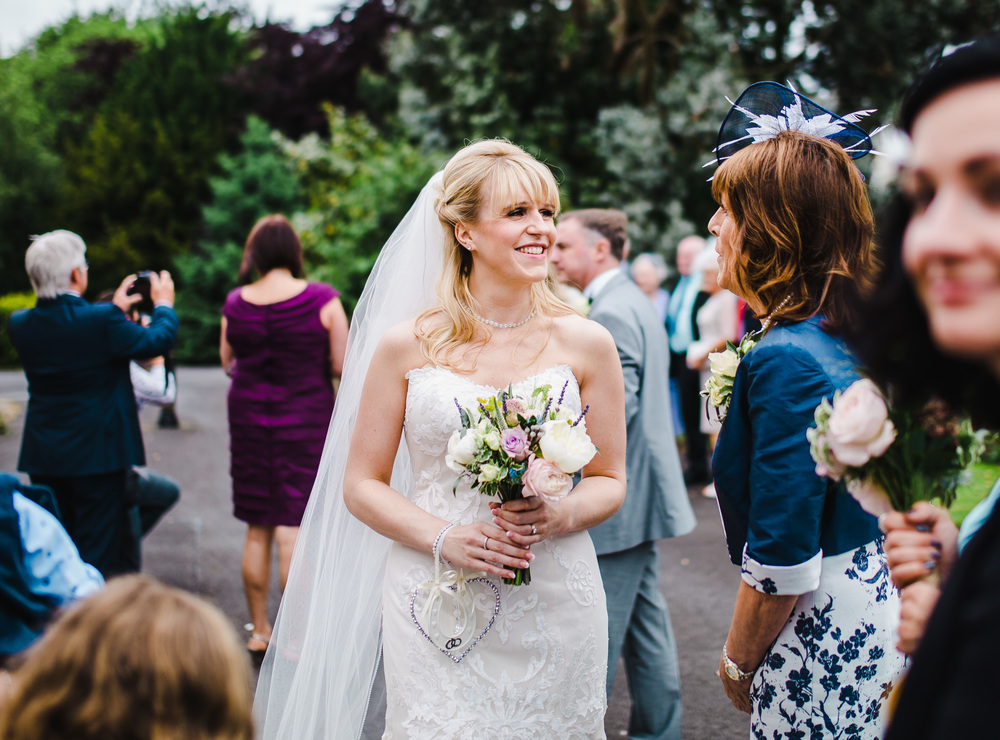 candid images of the bride