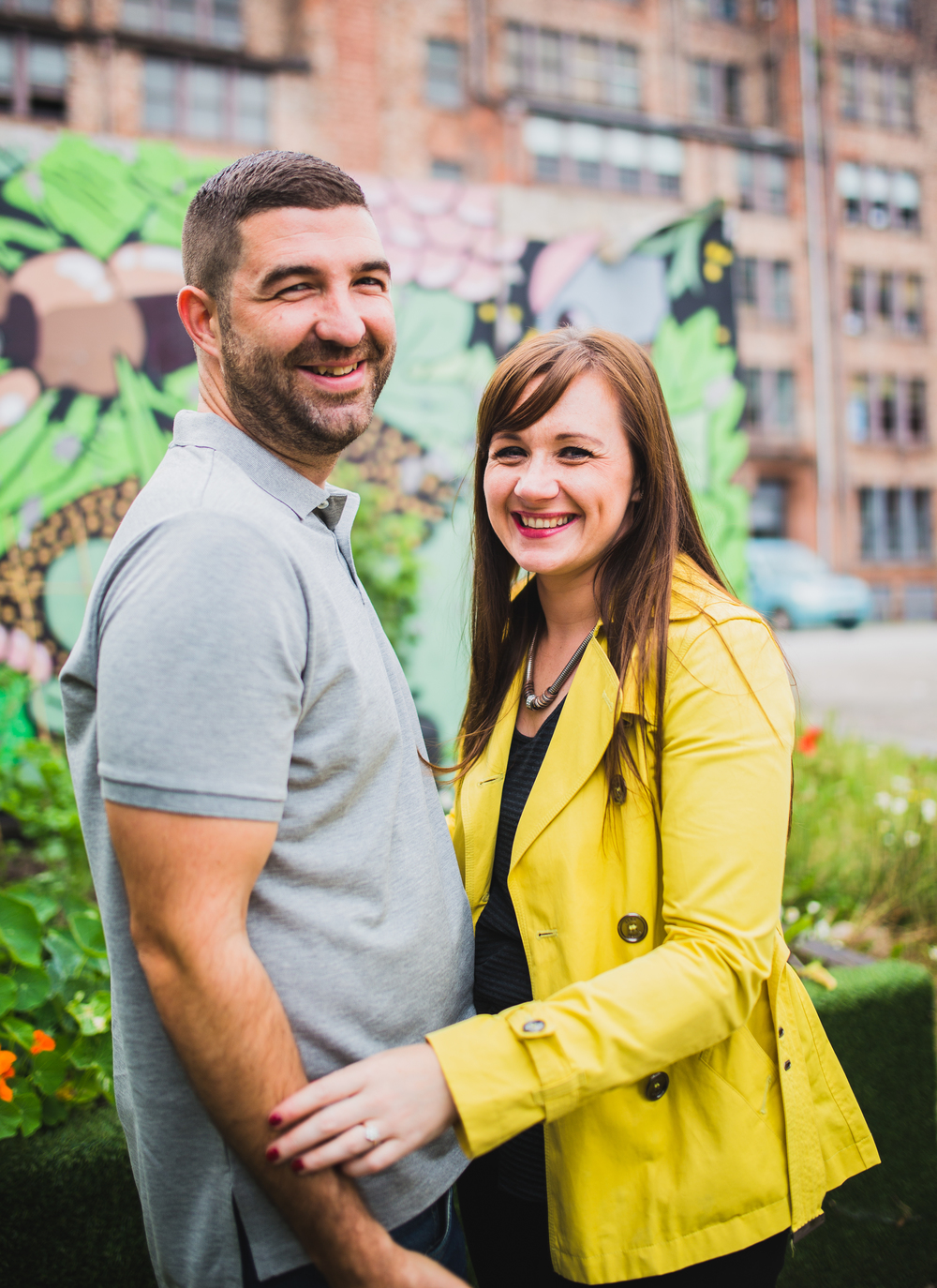 prewed shoot in manchesters northern quarter
