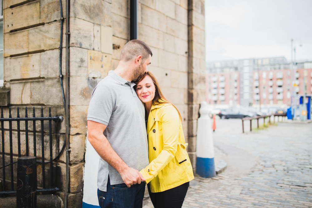 bride and groom in manchester's northern quarter