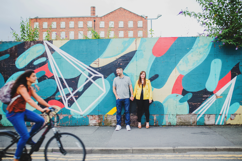 pre-wedding shoot in manchester's northern quarter