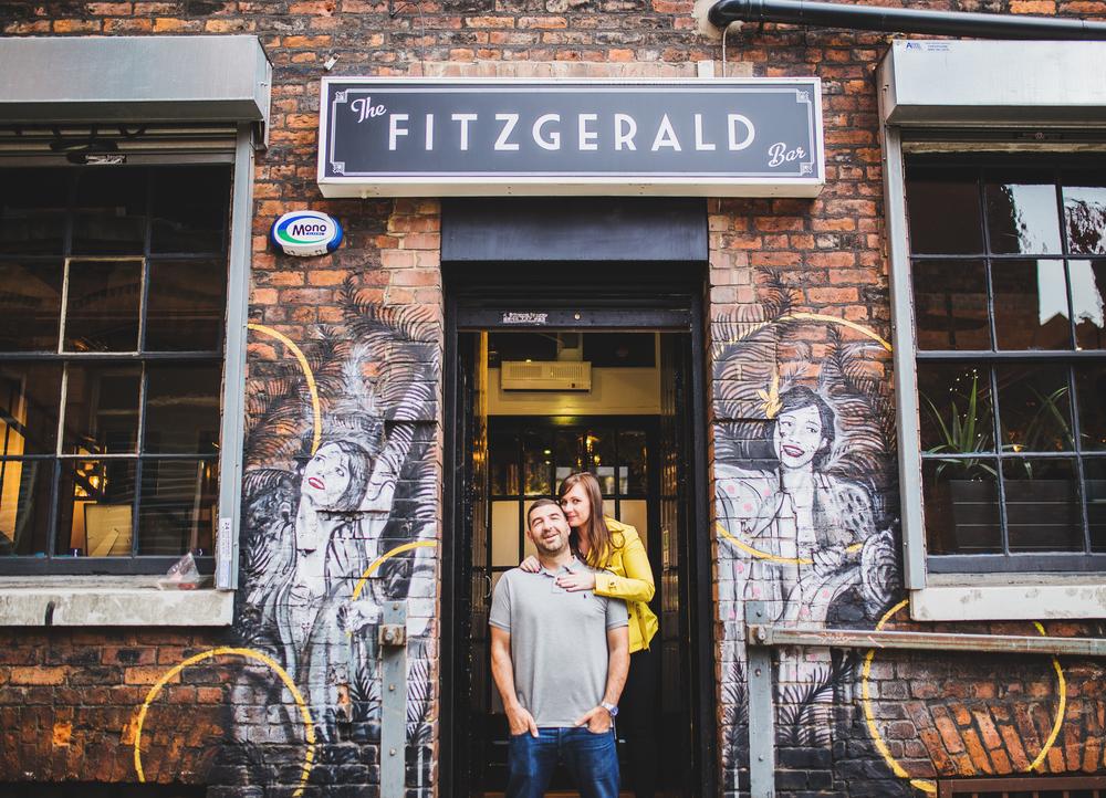 manchester wedding photographer in city centre photo shoot