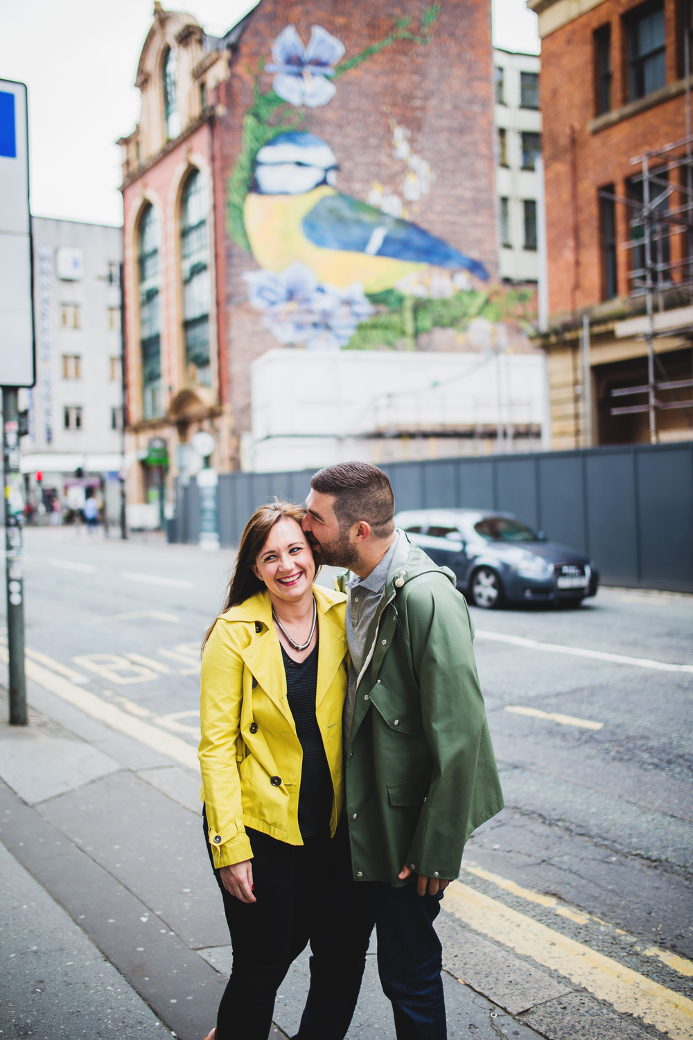 manchester engagement session in the northern quarter - creative photographer in manchester