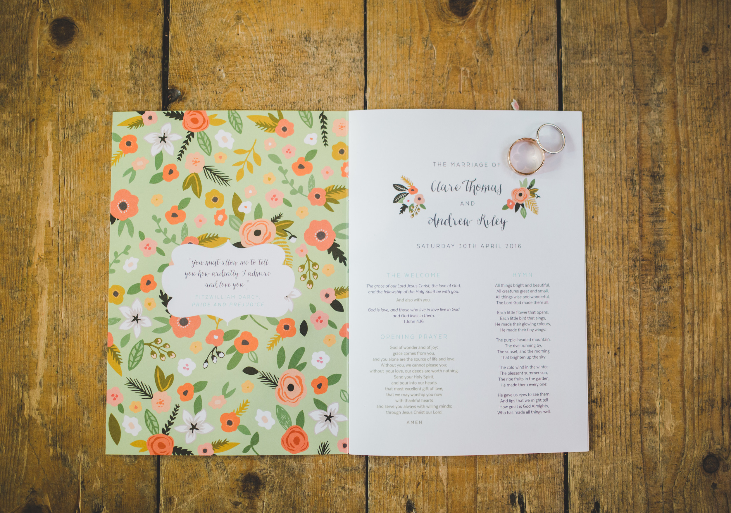 handmade wedding stationary