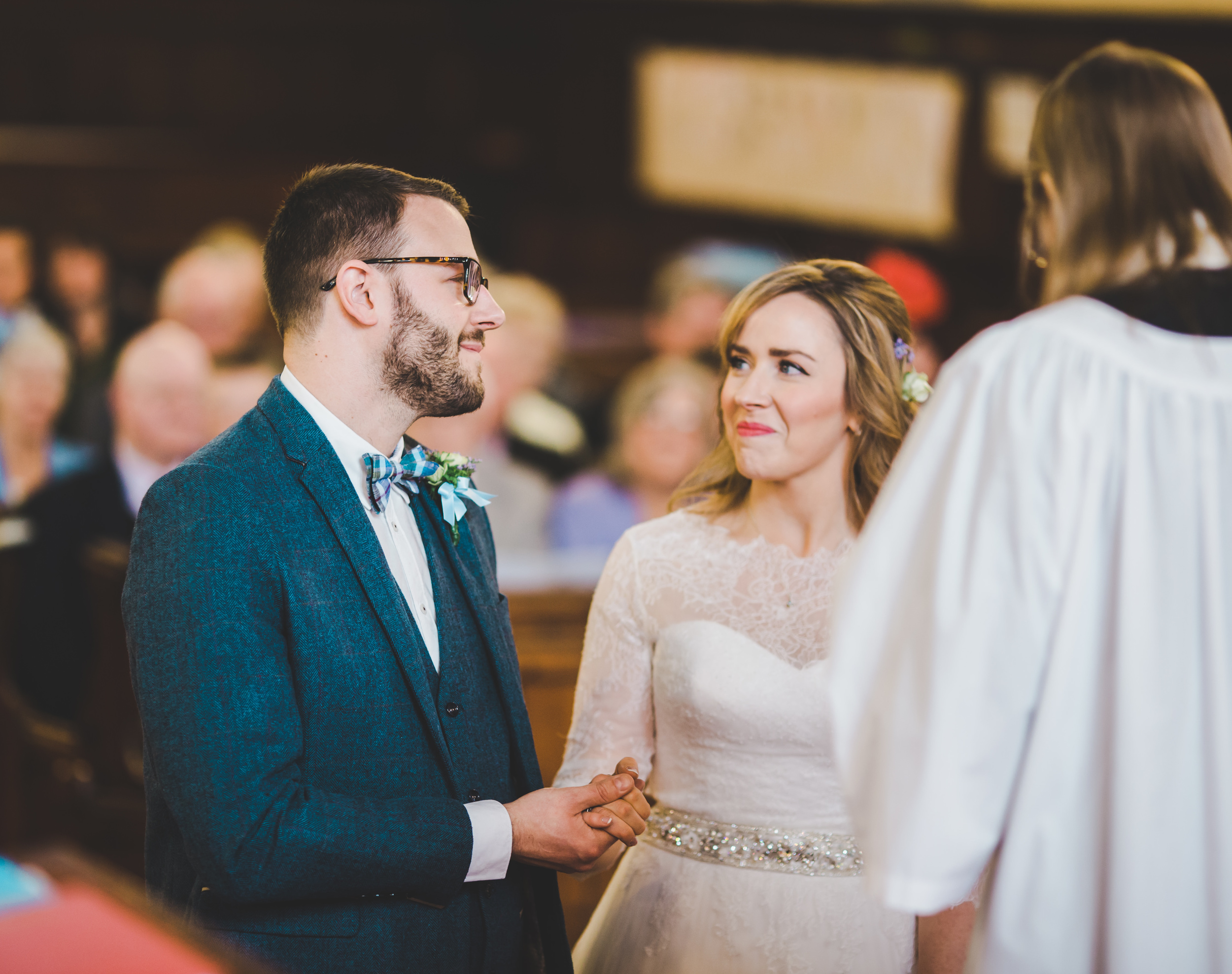 exchanging vows - wedding photographer cheshire