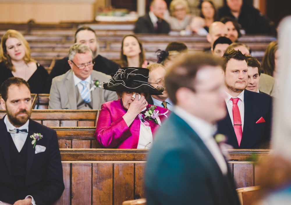 mum cried during wedding at cheshire wedding .