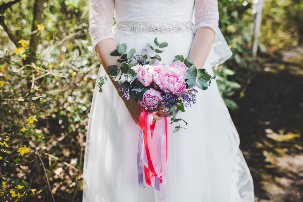 Bouquet  of peonies - relaxed wedding images