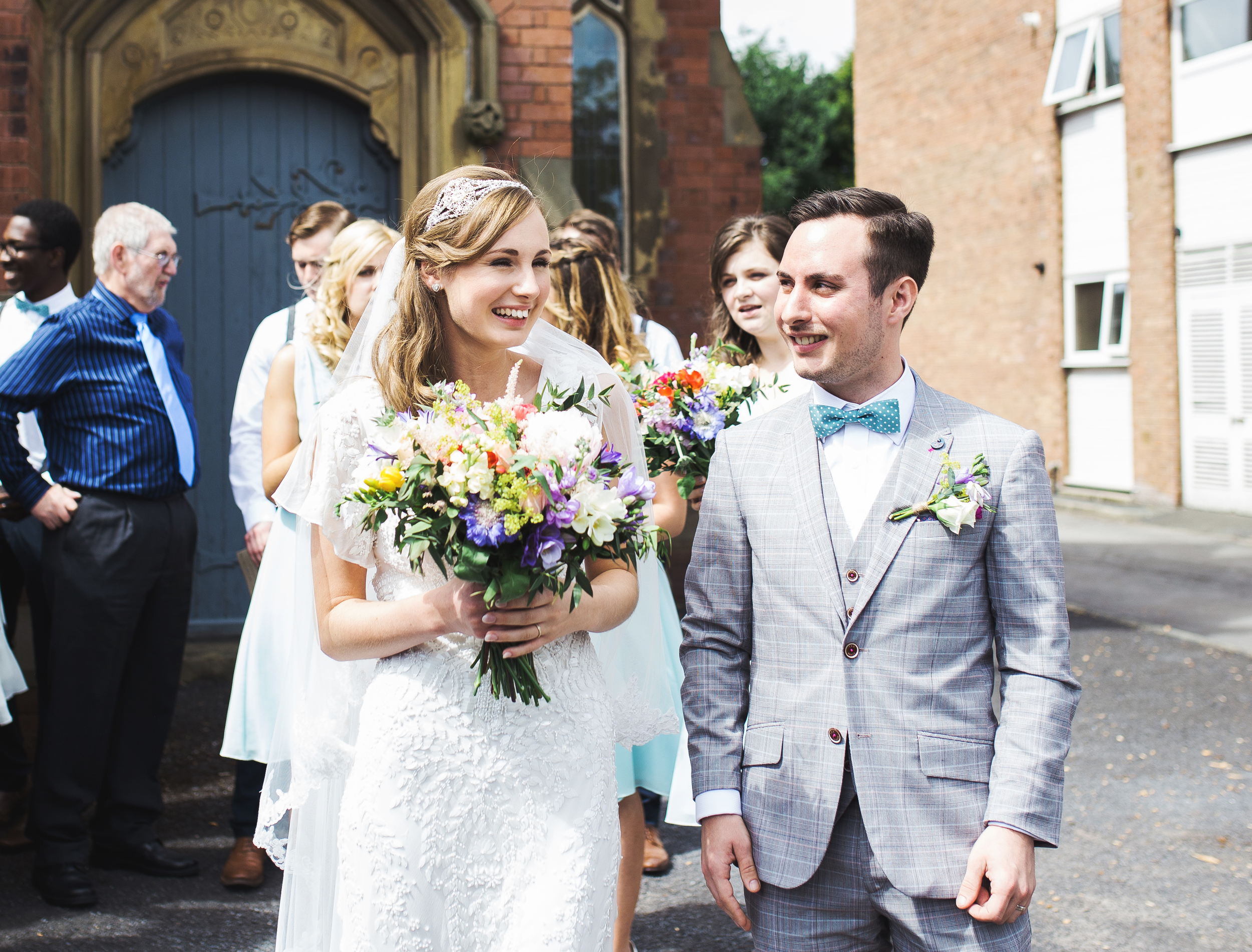 stylish bride and groom in Southport wedding