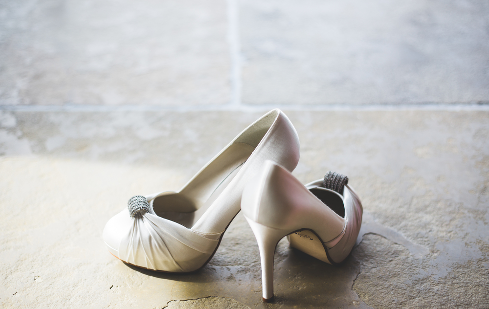 Shoes fit for the bride.