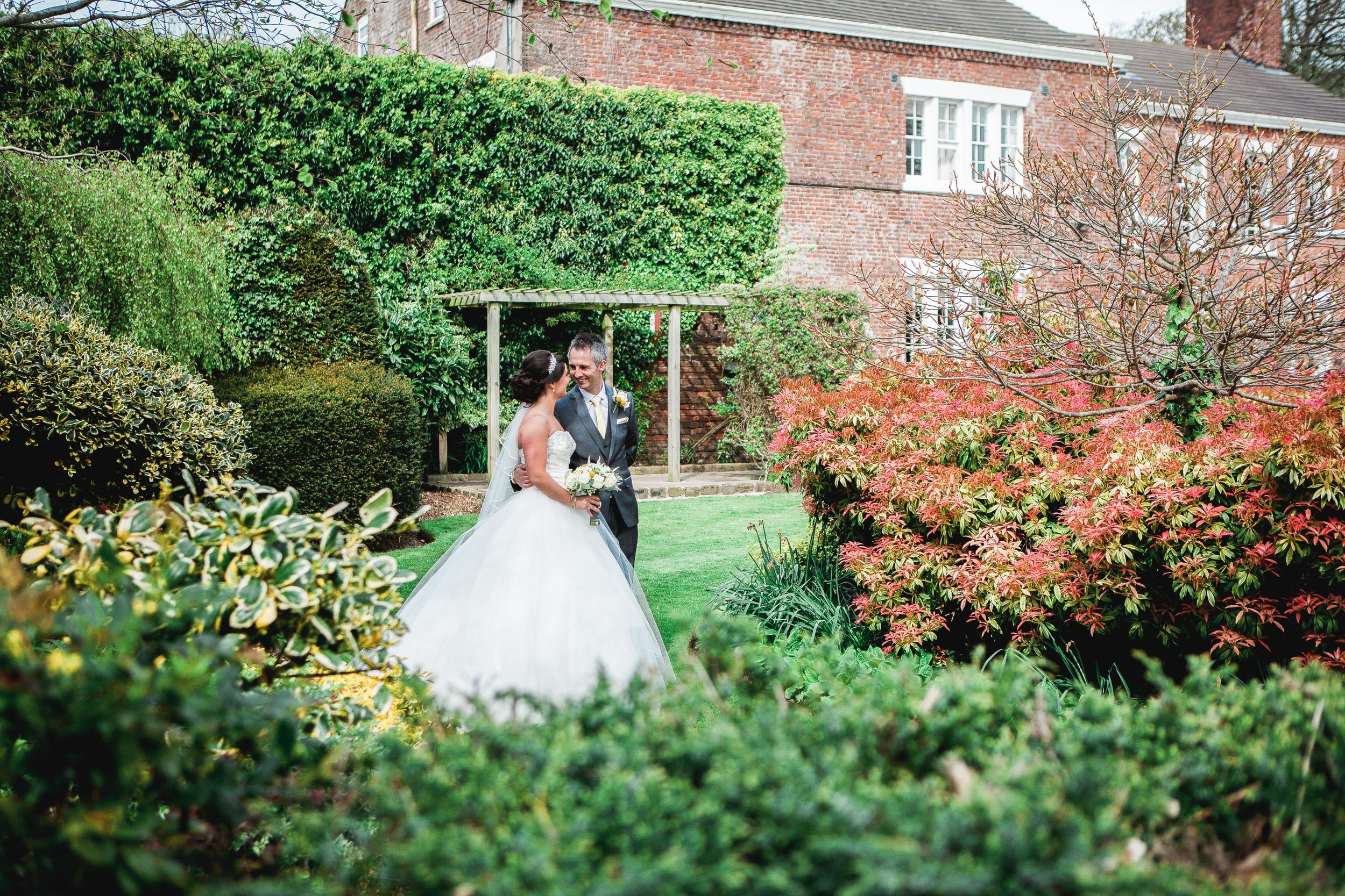 bride and groom at singleton lodge wedding