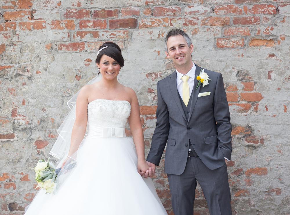 Bride and groom portraits - outside singleton lodge wedding venue