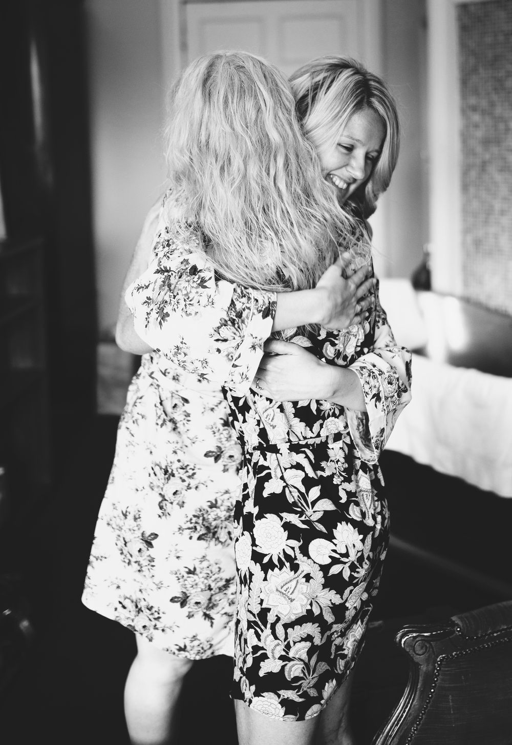 Hugs all round for the York wedding.