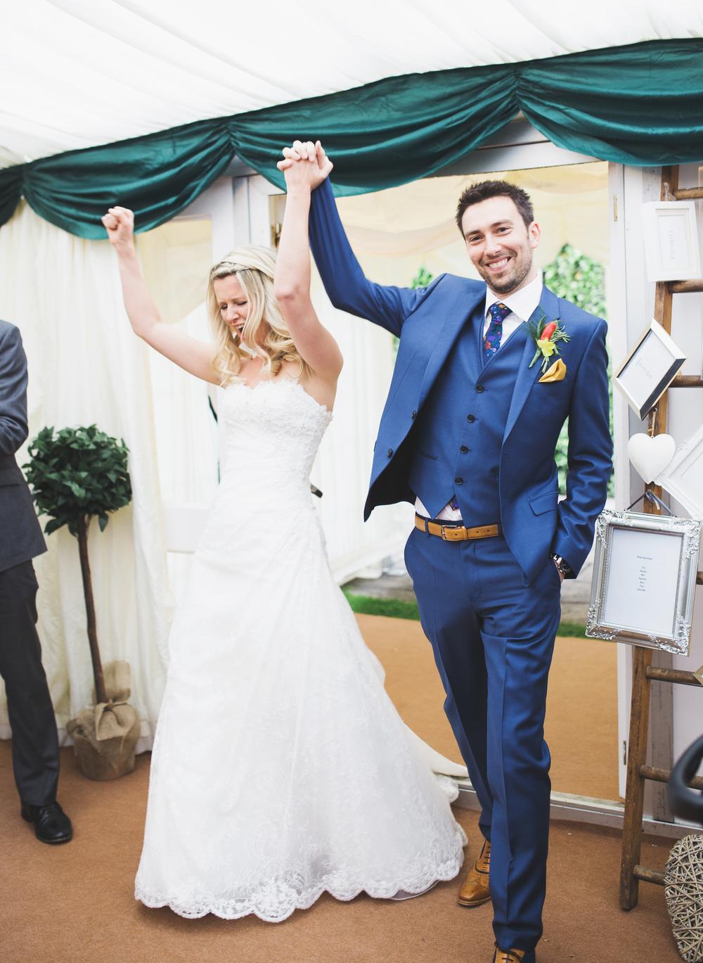 Cheerful wedding in York.
