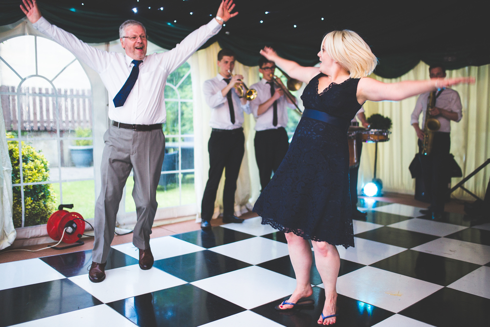 All the dance moves were brought to the Churchill Hotel wedding.