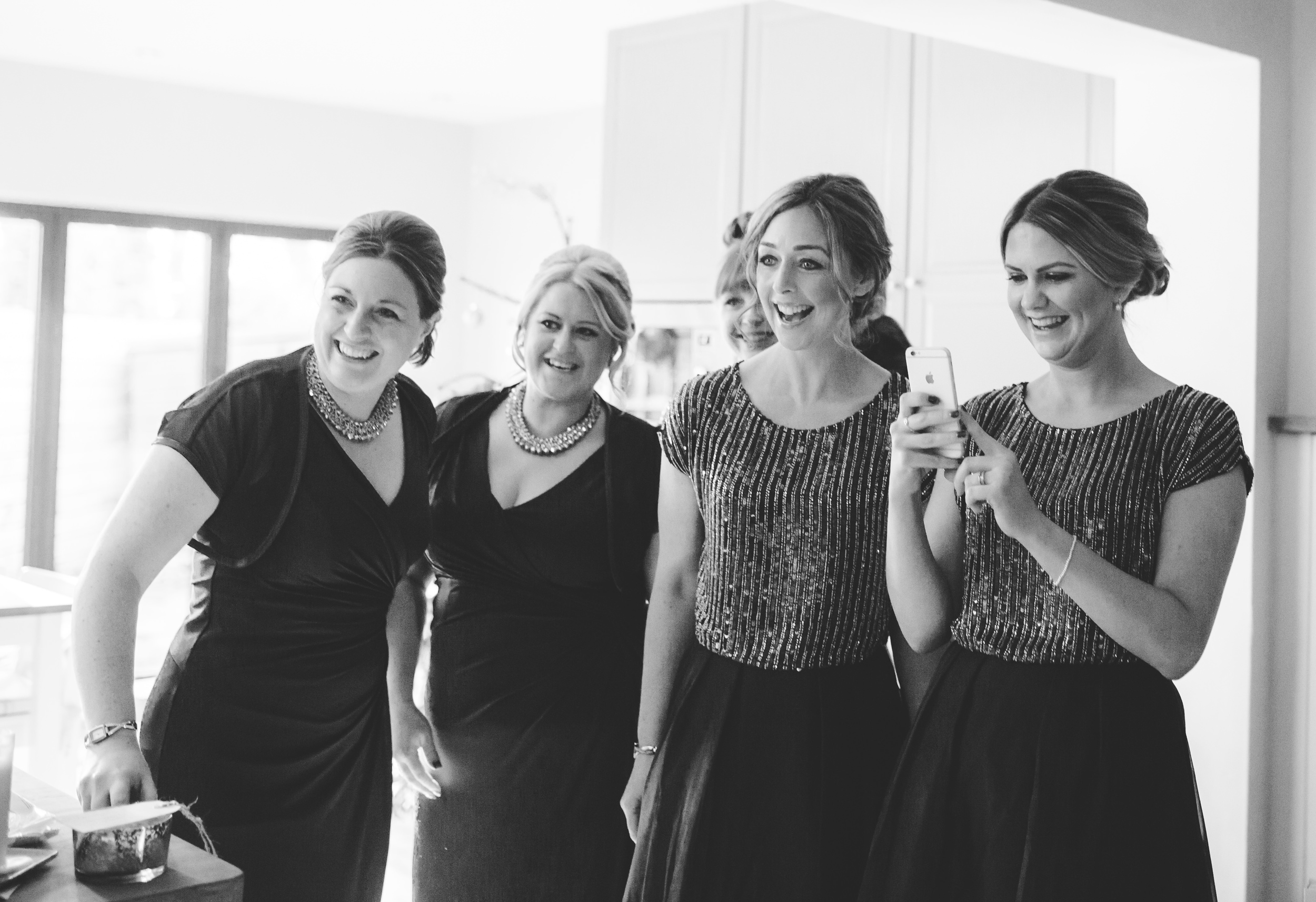 bridesmaids react to seeing the dress - emotional wedding pictures
