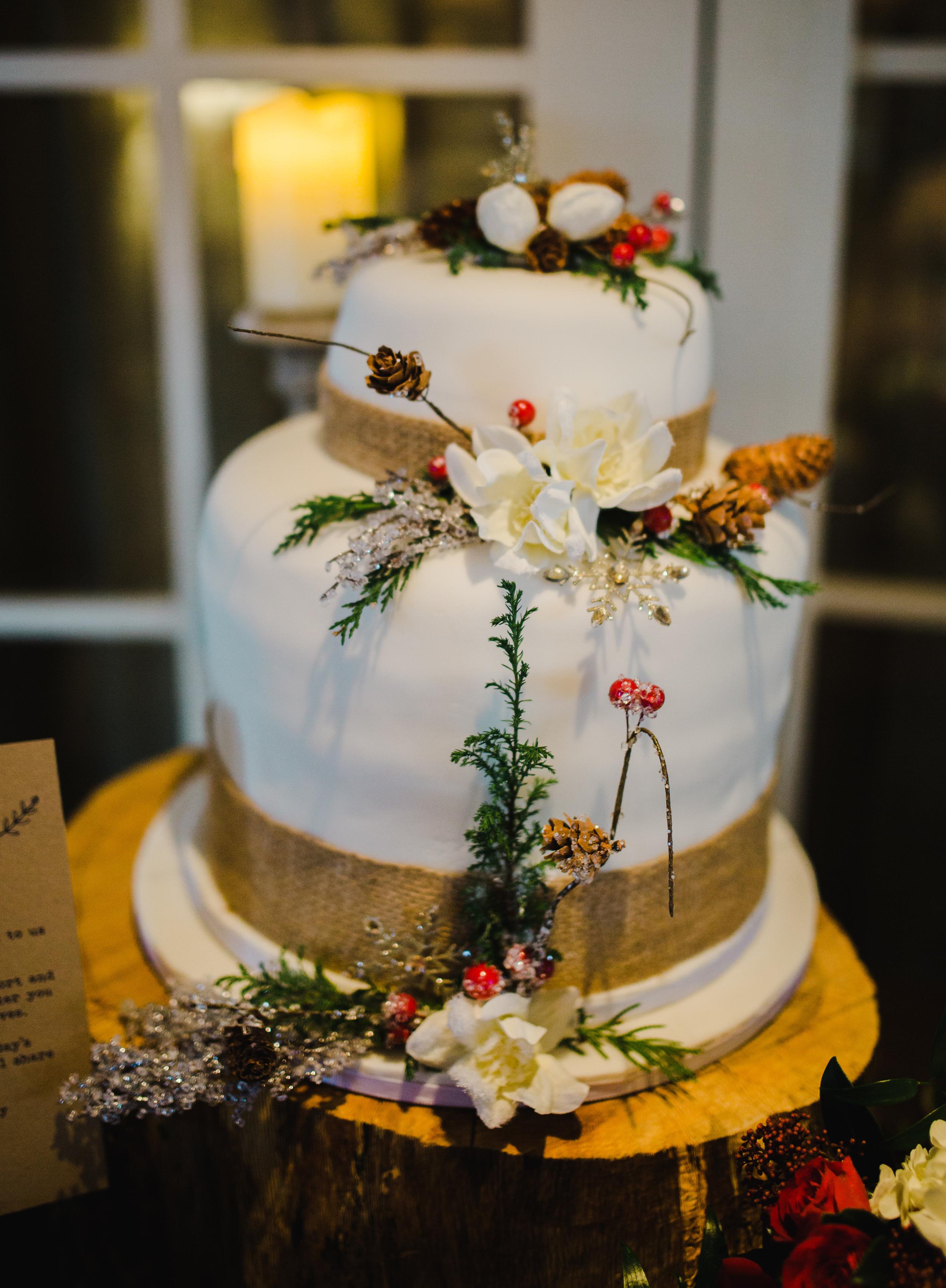 Winter wedding cake - Great John Street Hotel