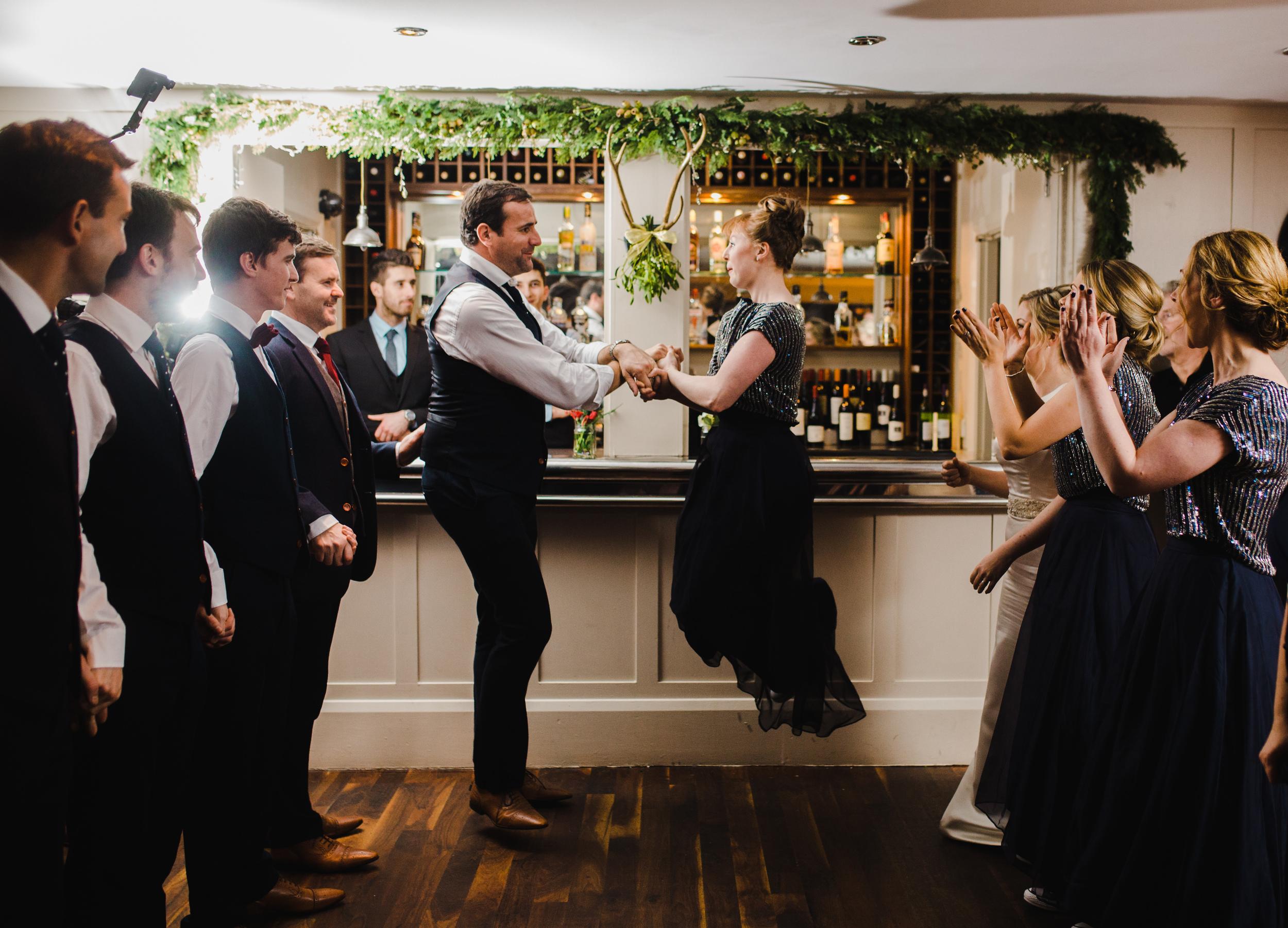 energetic wedding dancing - north west wedding photographer