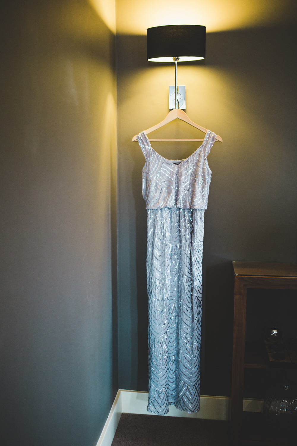 The maid of honour beautiful gown. for the cheshire wedding.