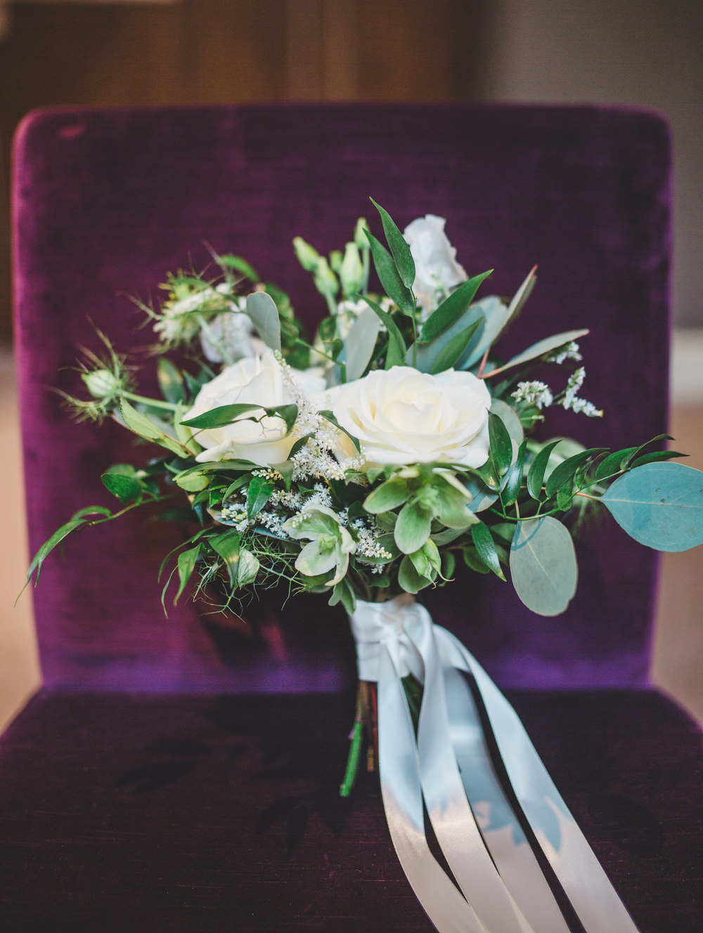 The flowers for the wedding at the Oak Tree of Peover.