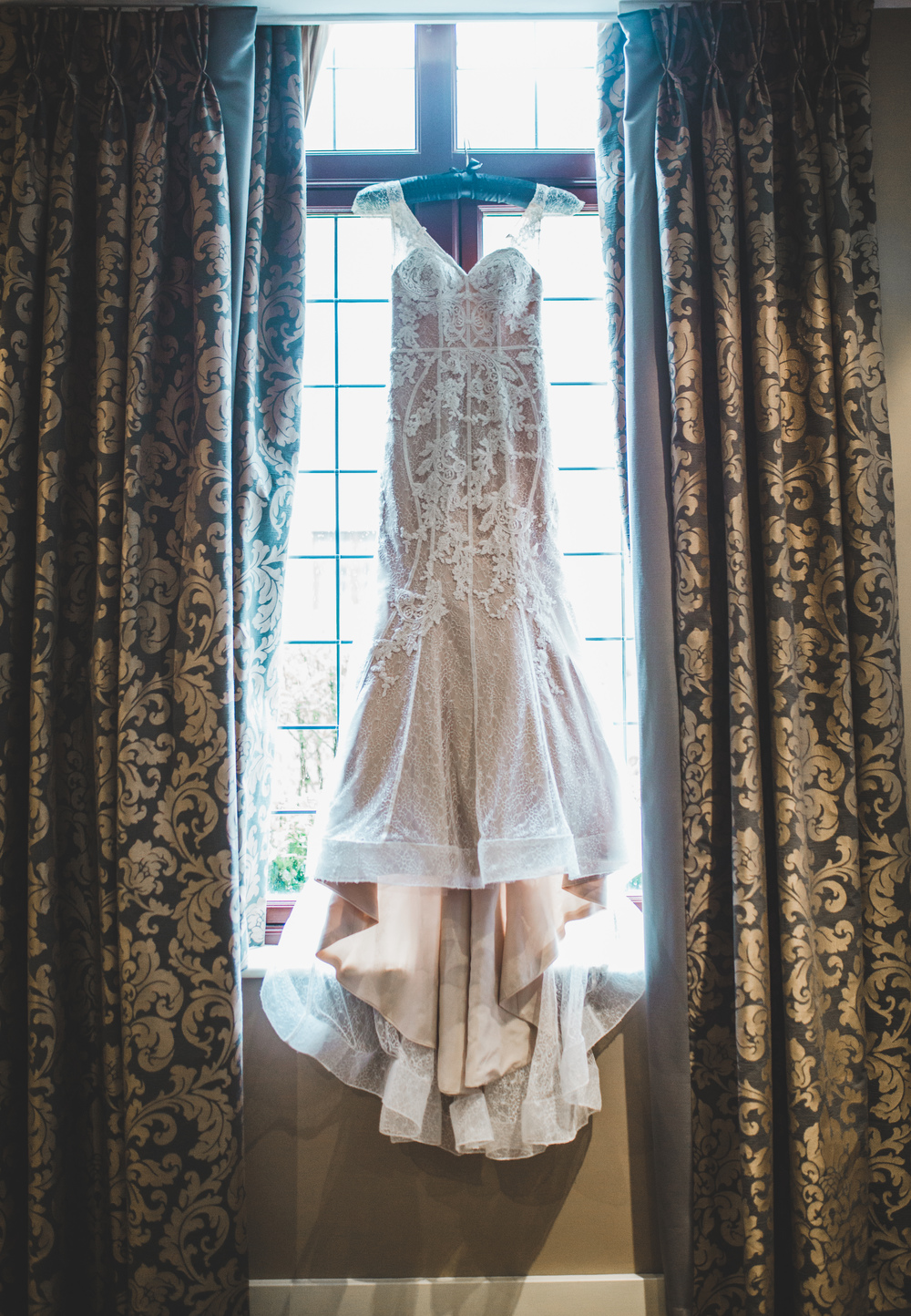The beautiful bride gown for the Cheshsire wedding.